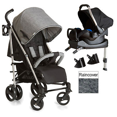 New Hauck Vegas Melange Grey Travel System With Isofix Base From Birth