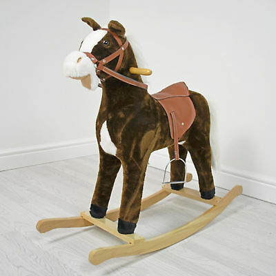 New 4Baby Large Activity Rocking Horse Chestnut Brown With Sounds From 3 Years
