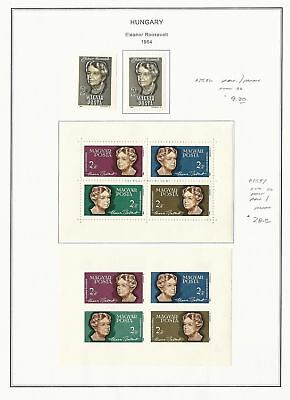 Hungary Collection 1964-1970 on 10 Album Pages, All Mint Stamps & Sheets
