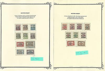 Hungary Western Collection 1921 on 13 Scott Specialty Pages, Rare Westungarn