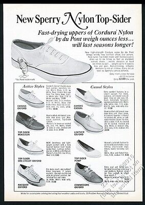1967 Sperry Top-Sider boat shoes 9 styles photo vintage print ad