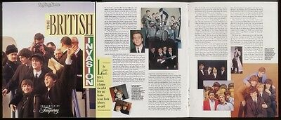 1988 The Beatles multi photo Tanqueray Gin catalog print ad