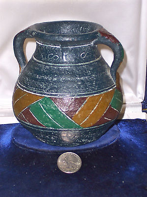 Antique Hand Made Etched And Decorated Pottery Vessel