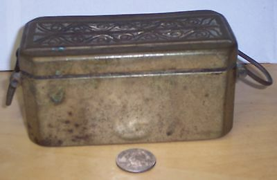 Antique Brass Philippine Opium Betel Nut Box