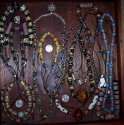 One Beautiful Antique African Mixed Trade Bead Necklaces Plus