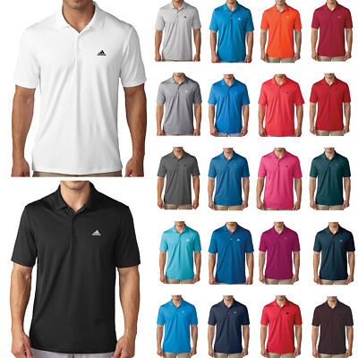 Adidas Golf 2017 Mens Performance LC Logo Polo Shirt Lightweight Breathable