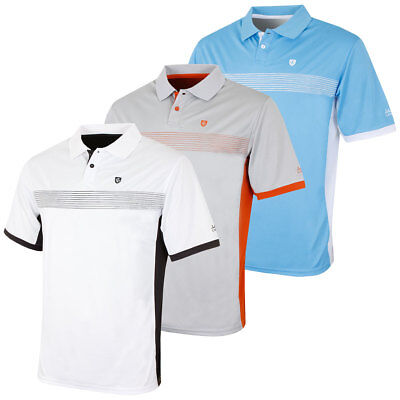 Island Green 2017 Mens Mesh Panel CoolPass Performance Golf Polo Shirt