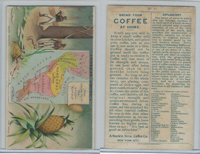 K3 Arbuckle Coffee, Principle Nations of the World, 1890, #61 Central America