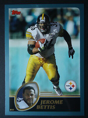 NFL 14 Jerome Bettis Pittsburgh Steelers Topps 2003