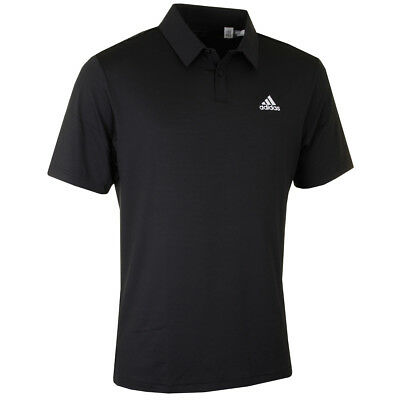 Adidas Golf Mens Elements Tonal Stripe Tour Logo Bespoke Performance Polo Shirt