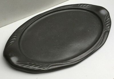LARGE VTG ART DECO HAND HAMMERED PEWTER TRAY PLATTER c1930`S LARGE OVAl FRENCH