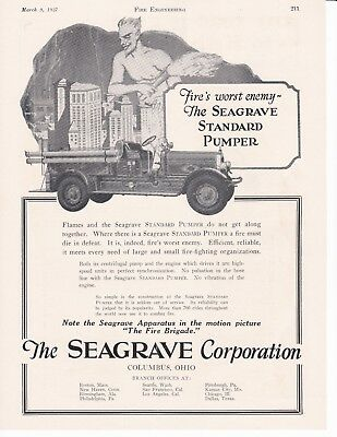 Seagrave Standard Pumper For 1927 Ad                 7197