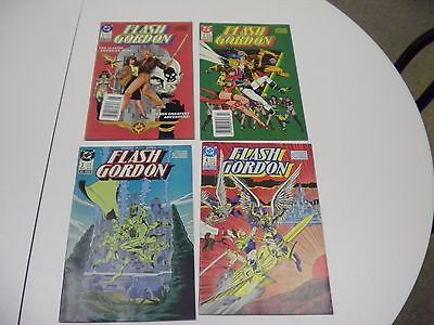 z5q LOT OF 4 FLASH GORDON DC Comic Books 1988 Issue 1 Thru 4 Protective Covers