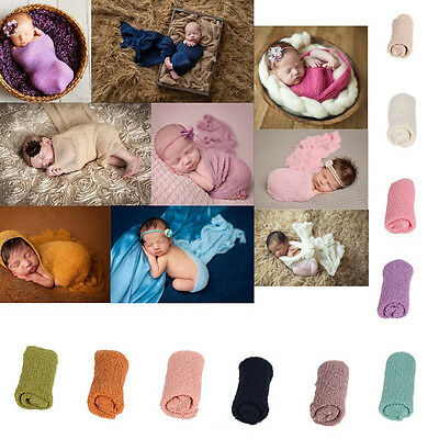 Newborn Baby Photography Photo Prop Stretch Wrap Baby Long Ripple Wrap SS US