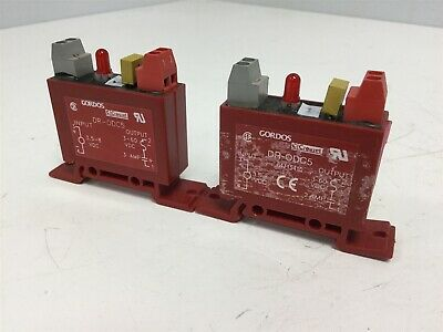 Lot of 2 Gordos DR-ODC5 Solid State Relays 3.5-8VDC Input, 3-60VDC 3A Output