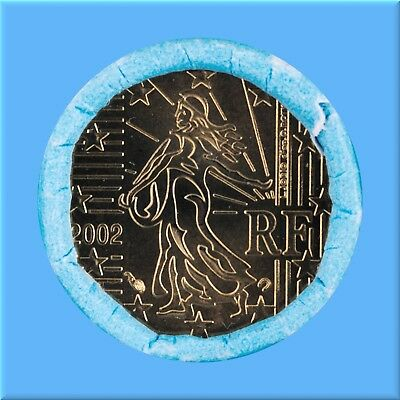 10   Euro - Cent - Rolle - Münzrolle - Frankreich 2002