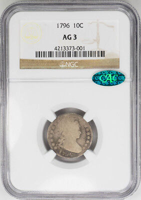 1796 10C Draped Bust Dime - NGC AG03 CAC Approved - US Rare Coin