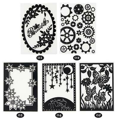 Flower Plastic Embossing Folders for DIY Craft Paper Card Making Fashion SS US
