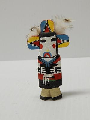 VINTAGE HOPI INDIAN HIGHWAY ROUTE 66 BUTTERFLY KACHINA - by GEORGE POOLEY - NR !