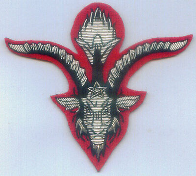 Medieval Crusades Knight Templar Secret Occult Satanic Baphomet Worship Patch X