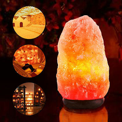 Himalayan Salt Lamp Natural Air Purifier Crystal Rock Night Light 2-5 Lbs