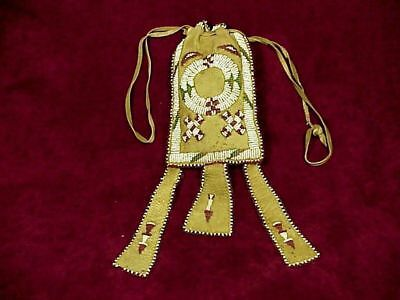Vintage APACHE BEADED MEDICINE BAG