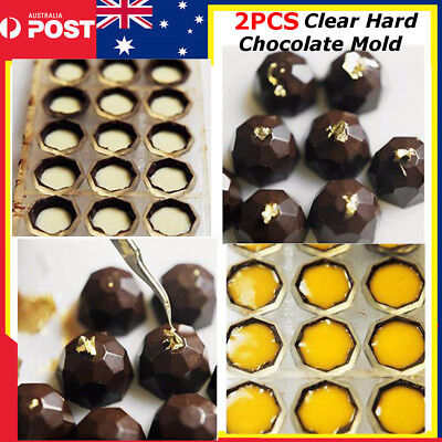 2PCS Clear Hard Chocolate Maker Polycarbonate 21 Half Ball Candy Mold DIY Mould