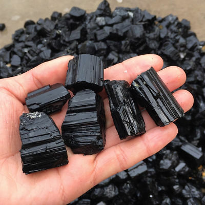 50g Raw Gemstone Crystal Rough Natural Black Tourmaline Mineral Healing Stone