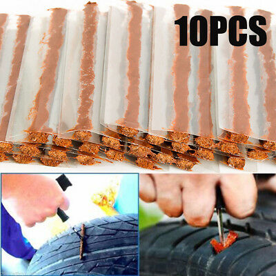 10Pcs Auto Motorcycle Tubeless Tire Tyre Puncture Plug Seal Repair Tool Kit Hot