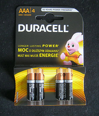 4 X Duracell AAA Batteries Special Offer