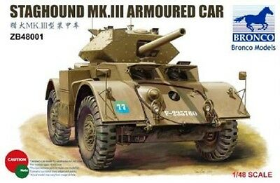 BRONCO ZB48001 Staghound Mk.III Armoured Car in 1:48
