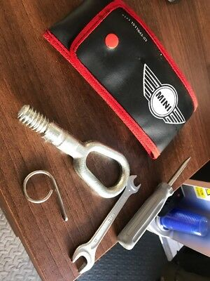 Bmw Mini Cooper One R50 R52 Toolkit Pouch Tool Kit Tools Tow Eye