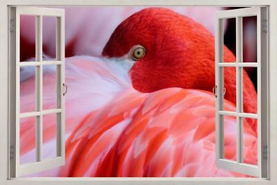 Toilet Stickers Flamingo Birds Pink Girls Smashed Decal 3D Art Hole Room S560