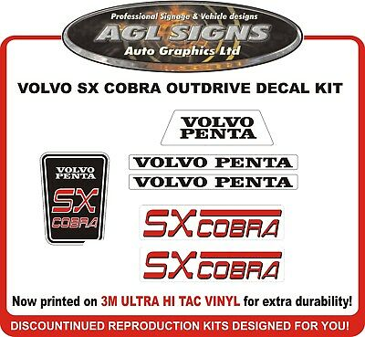 Volvo Penta SX COBRA  Outdrive Reproduction  Decal Kit    sterndrive