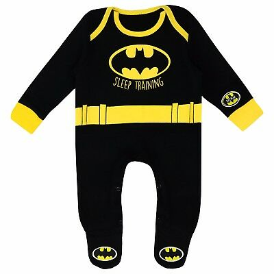 Baby Boys Batman Sleepsuit | Batman Bodysuit | DC Comics Baby Pyjamas