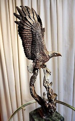 """GREAT K Cantrell Legends Metal Eagle Sculpture Outpost 636/2500 1990 H 12"""""""