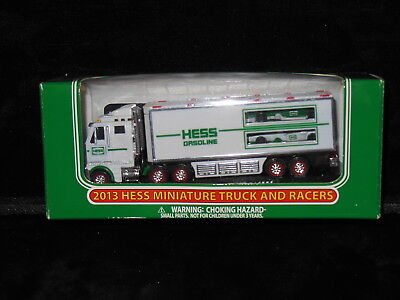 2013 Hess Miniature Toy Truck   Truck And Racers   New In Box