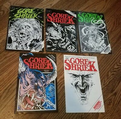 Gore Shriek Comic Lot 1986 #1 vol 2 #1 2 1/2 annual Greg Capulo Fantaco horror