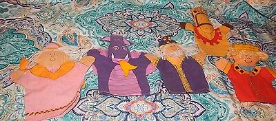 Vintage Oriental Trading Co Castle Hand Puppet Toys Lot Dragon Wizard King Horse