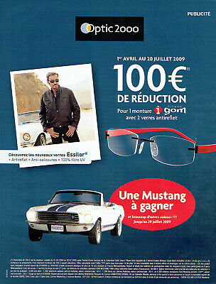 508a8fa5df648a Publicité Advertising 117 2009 Optic 2000 lunettes Johnny Hallyday   Mustang