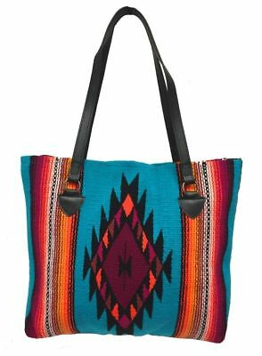 Southwest Ladies Serape Purse Tote San Carlos Shopper Soft Colorful Design D
