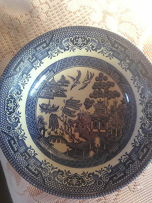 Blue And White Chinese Pattern Dish  -Good Condition