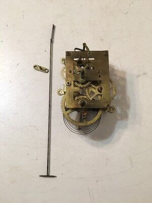 Antique Ansonia Regulator Time Only Wall Clock Movement