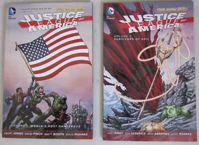2 DC New 52 Justice League of America Volume 1 & 2 TPBs Graphic Novels NM