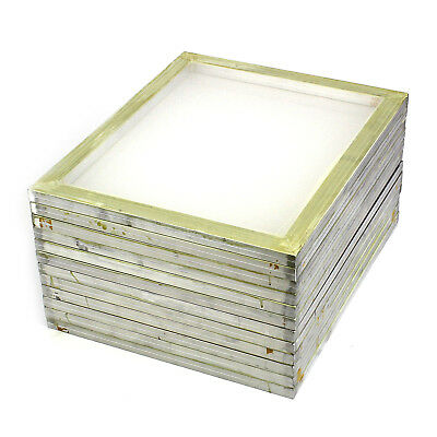 "12 Pack Aluminum Silk Screen Printing Press Screens 110 White Mesh 20"" x 24"""