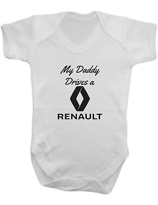My Daddy Drives a Renault -Baby Vest-Baby Romper-Baby Bodysuit-100% Cotton
