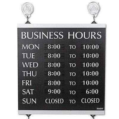NEW Century Series Open / Close Monday - Sunday Business Hours of Operation Sign