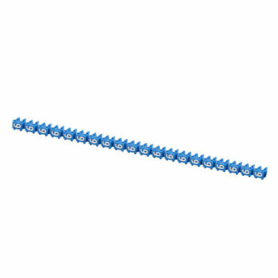 """20Pcs Letters """"6"""" Network Cable Labels Markers Blue for 1.0-3.0mm Dia Wire"""