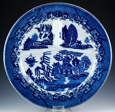 Vintage Restaurant Ware Blue Willow Grill Plate 10 Inch Made In Japan