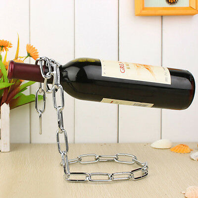 Magic Chain Holder Rack Stand for BOX Bottle Wine Decanter Rope Silver
